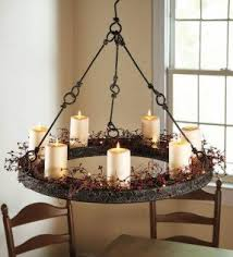 Real Candle Chandelier Wrought Iron Candle Chandelier Foter
