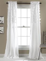 Amazon White Curtains Amazon Com Lush Decor Avery Window Curtains 84 By 54 Inch Pink