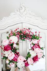 how to make a beautiful peony and cherry blossom spring wreath