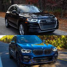 2017 bmw x3 vs 2018 photo comparison 2017 audi q5 vs 2018 bmw x3