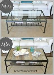 replace glass in coffee table with something else coffee table makeover industrial the glass ikea and what to do