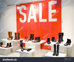 shoe store window sale season shopping stock photo 23290897