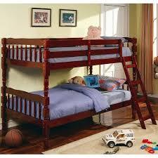 Convertible Bunk Beds Cherry Convertible Bunk Bed W Ladder Coaster Furniture