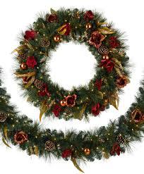 christmas wreaths with lights u2013 happy holidays