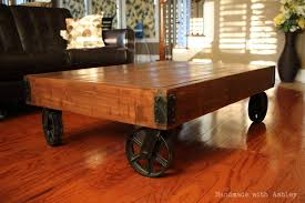 handmade coffee table diy industrial factory cart coffee table plans by rogue engineer