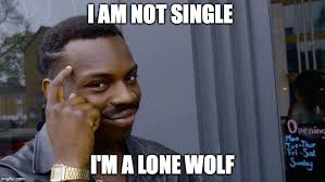 Being Single Memes - i am not single i m a lone wolf