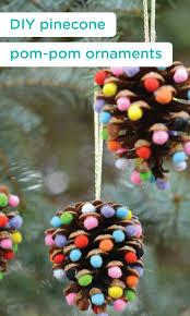 Pinecone Pom Pom Christmas Ornaments 100 Days Of Homemade