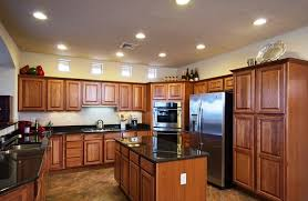 astounding brown color hickory kitchen cabinets featuring double