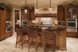 kitchen island with range top