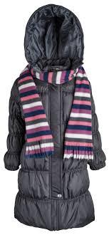 sportoli girls down alternative hooded warm winter long