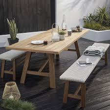 stockholm natural finish dining table john lewis stockholm 6 seater garden dining table bench set fsc
