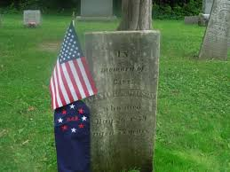 Grave Marker Flags Revolutionary War Soldier U0027s Grave Gets New Marker Wmuk