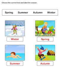 free worksheets on seasons esl worksheets for kids