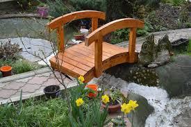 yard bridge diy how to build a small garden bridge gnh lumber co