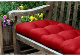 Bench Back Cushion Rounded Back Tufted Sunbrella Bench Or Glider Cushion 46
