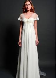 empire wedding dress buy discount chiffon v neck neckline empire waistline