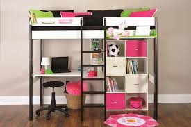 Bunk Bed With A Desk Metal Futon Bunk Beds Wit Stairs Desk Slide Walmart