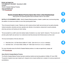 what is news worthy for a healthcare practice press release