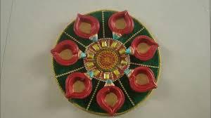 diwali decoration items designer diya plates