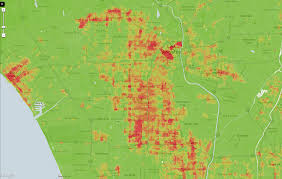Los Angeles Suburbs Map Los Angeles Crime Map Indiana Map