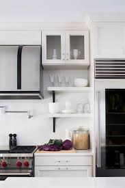 photos hgtv modern black and white kitchen with open shelves idolza