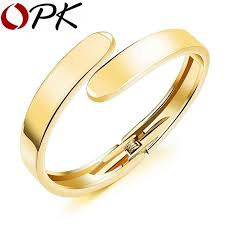 gold jewelry bracelet designs images Oem simple design open bangles fashion for women silver color gold jpg