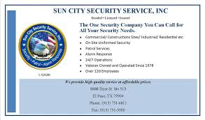sun city security service inc home
