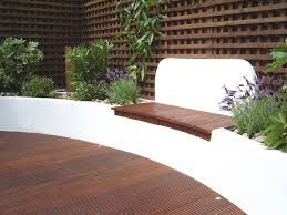 Outdoor Bench Seat Designs by Deck With Raised Bed Seating Garden Bench Seat Ideas Pinterest