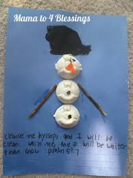 egg carton snowman craft mama to 6 blessings