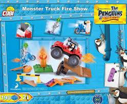 monsters truck show monster truck fire show penguins of madagascar for kids wiek