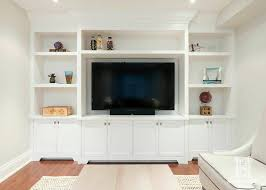 Entertainment Storage Cabinets Built In Entertainment Unit W Open Display Shelving And Pot