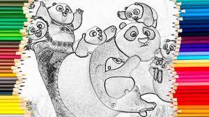 kung fu panda drawing coloring book kids