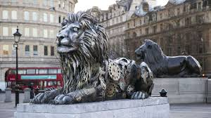 lions statues london s new clockwork lion statue evokes ticking clock for big cats