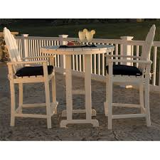 great high top outdoor furniture polywood adirondack balcony set
