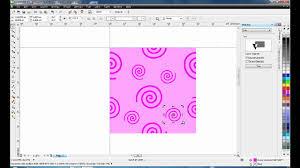 pattern fill coreldraw x6 create seamless pattern coreldraw youtube