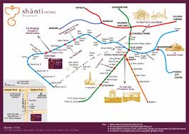 Metro Station Map by Shanti Home Boutique Hotel For Business And Leisure Travelers