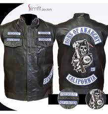 motorcycle jacket vest sons teller anarchy motorcycle vest with patches final s7