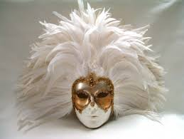 feather masks white deco white feathers venetian masks 1001