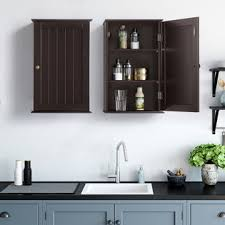 wall hung kitchen cabinets yaheetech bathroom cabinets toilet kitchen cupboard