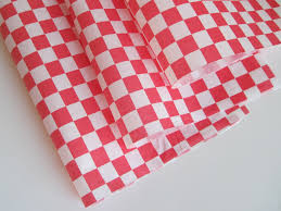 wax paper 50 sheets of and white checkered wax paper deli