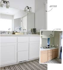 Before After Bathroom Makeovers - if you only have a small budget for a bathroom makeover jones