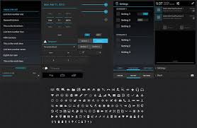 android gui designer 7 awesome android psd ui kits web graphic design bashooka