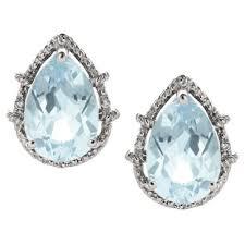 aquamarine stud earrings aquamarine earrings aquamarine stud earrings aquamarine hoops from