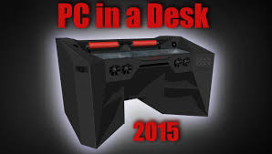 desks for gaming consoles ultimate gaming pc in a desk work log 1 photo slide youtube