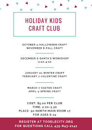 call halloween city kids craft club tooele city