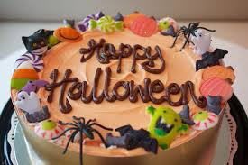 halloween theme celebration cake
