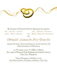 wedding invitations letter sle marriage invitation letter s cards