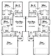 multifamily house plans first floor plan of traditional multi family plan 99427 my dream