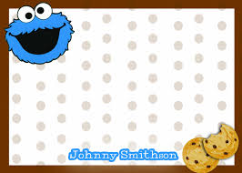 monster invitation cookie monster thank you notes sesame street thank you