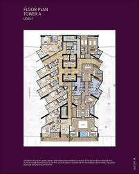 waterfront hotel apartment tower a level 1 floor plan